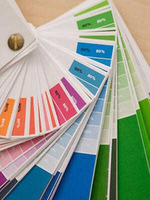 Steunkleuren PMS kleurenwaaier